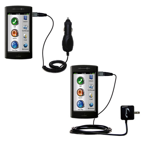 Car & Home Charger Kit compatible with the Garmin Nuvifone G60