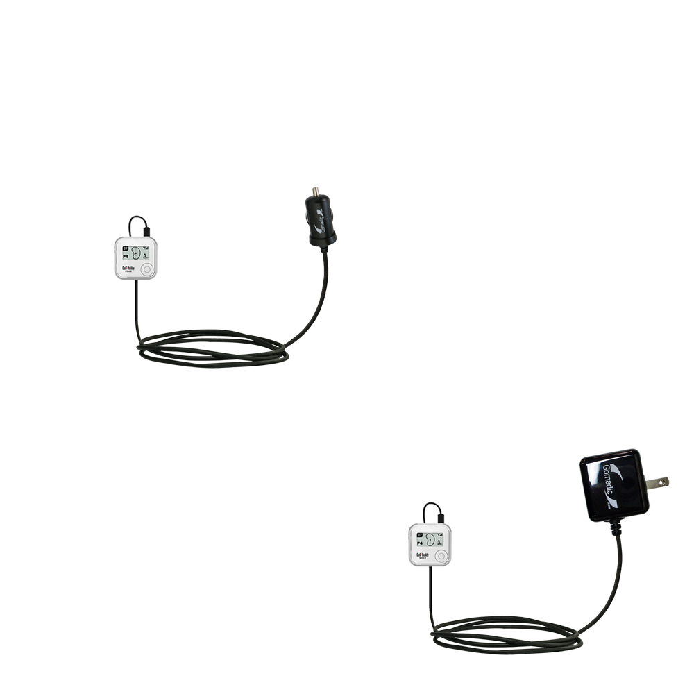 Car & Home Charger Kit compatible with the Golf Buddy Voice GPS Rangefinder