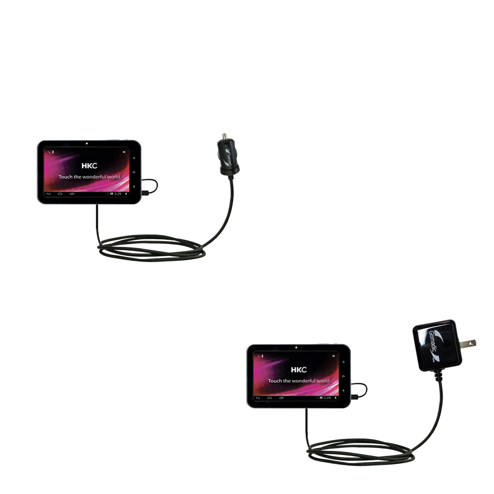 Car & Home Charger Kit compatible with the HKC 7 Tablet P771A