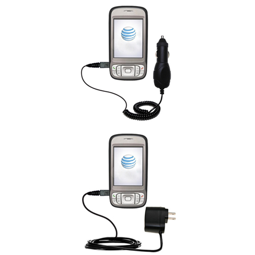 Car & Home Charger Kit compatible with the HTC 3G UMTS PDA Phone