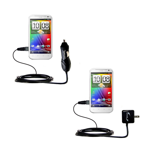 Car & Home Charger Kit compatible with the HTC Bliss
