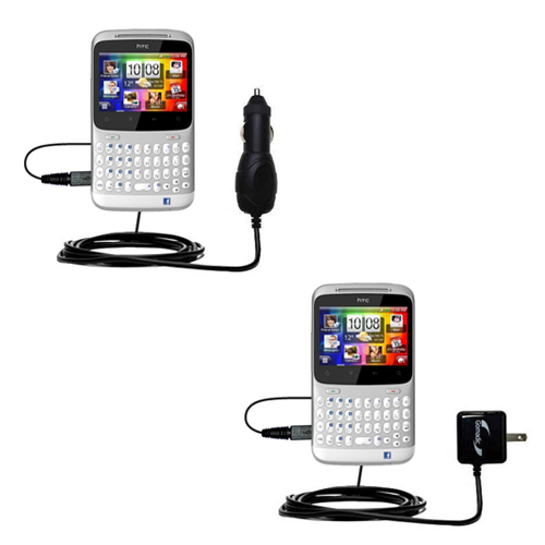 Car & Home Charger Kit compatible with the HTC ChaCha