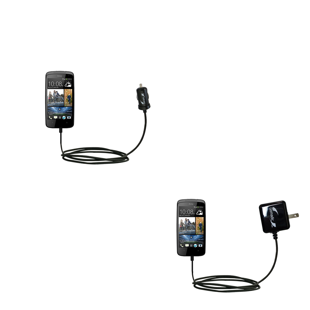 Car & Home Charger Kit compatible with the HTC Desire 500
