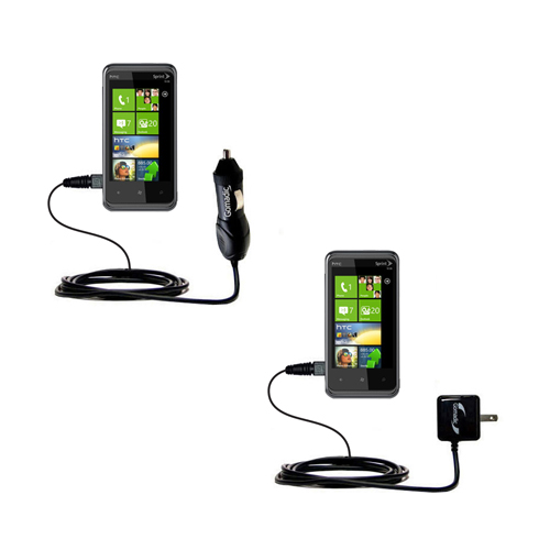 Car & Home Charger Kit compatible with the HTC Eternity