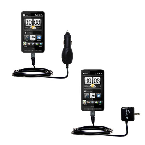 Car & Home Charger Kit compatible with the HTC HD3