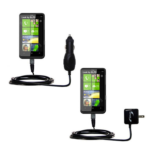 Car & Home Charger Kit compatible with the HTC HD7