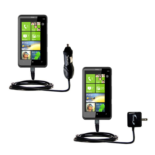 Car & Home Charger Kit compatible with the HTC HD7S