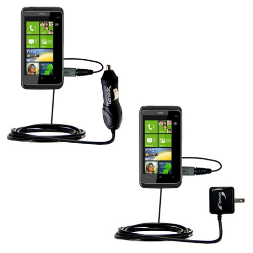 Car & Home Charger Kit compatible with the HTC Mazaa