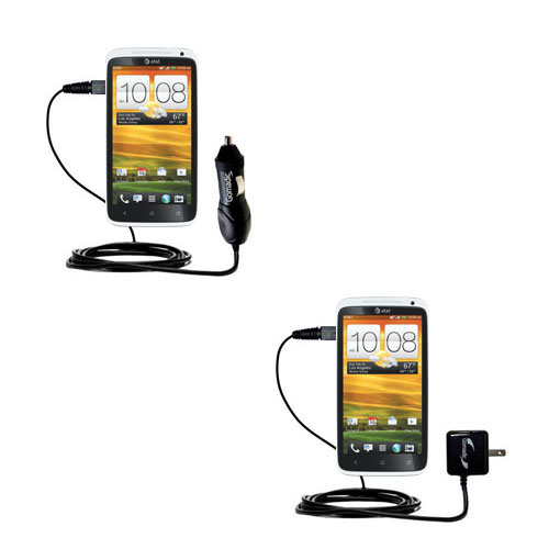 Car & Home Charger Kit compatible with the HTC One X