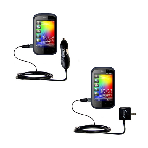 Car & Home Charger Kit compatible with the HTC Pico