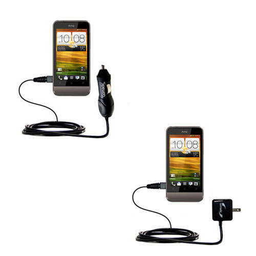 Car & Home Charger Kit compatible with the HTC Primo / T320e
