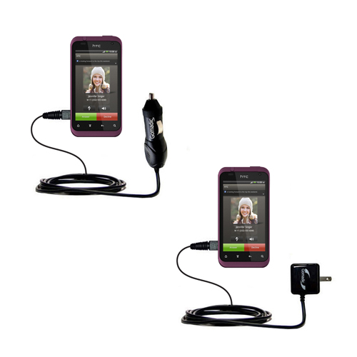 Car & Home Charger Kit compatible with the HTC Rhyme