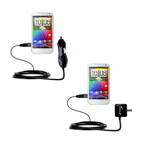 Car & Home Charger Kit compatible with the HTC Runnymede