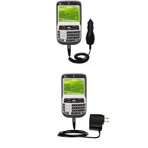 Car & Home Charger Kit compatible with the HTC S620 S620c