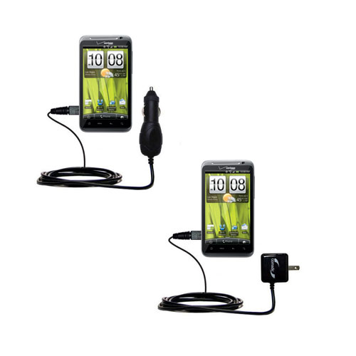 Car & Home Charger Kit compatible with the HTC Thunderbolt