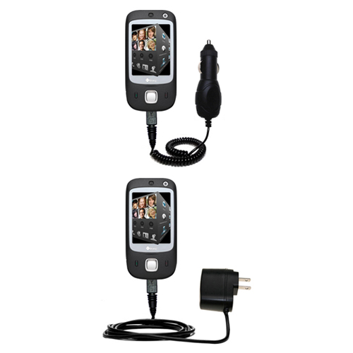 Car & Home Charger Kit compatible with the HTC Touch Dual