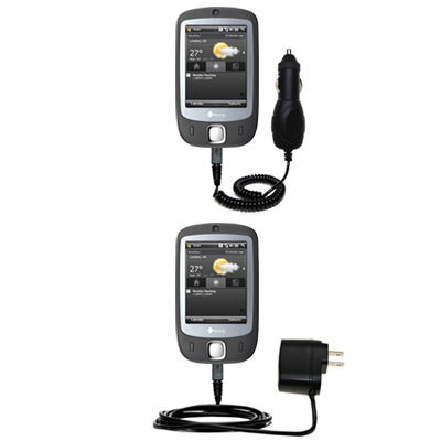 Car & Home Charger Kit compatible with the HTC VOGUE