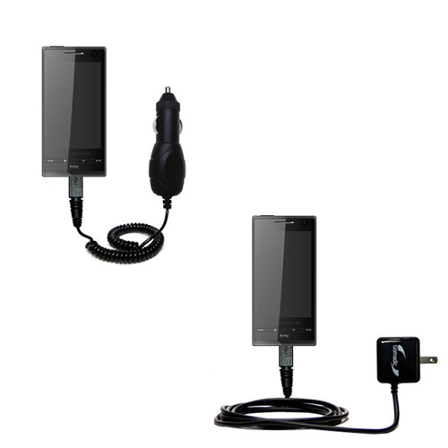 Car & Home Charger Kit compatible with the HTC Warhawk