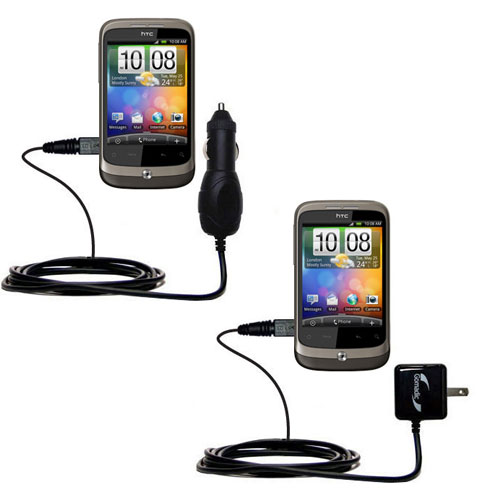 Car & Home Charger Kit compatible with the HTC Wildfire