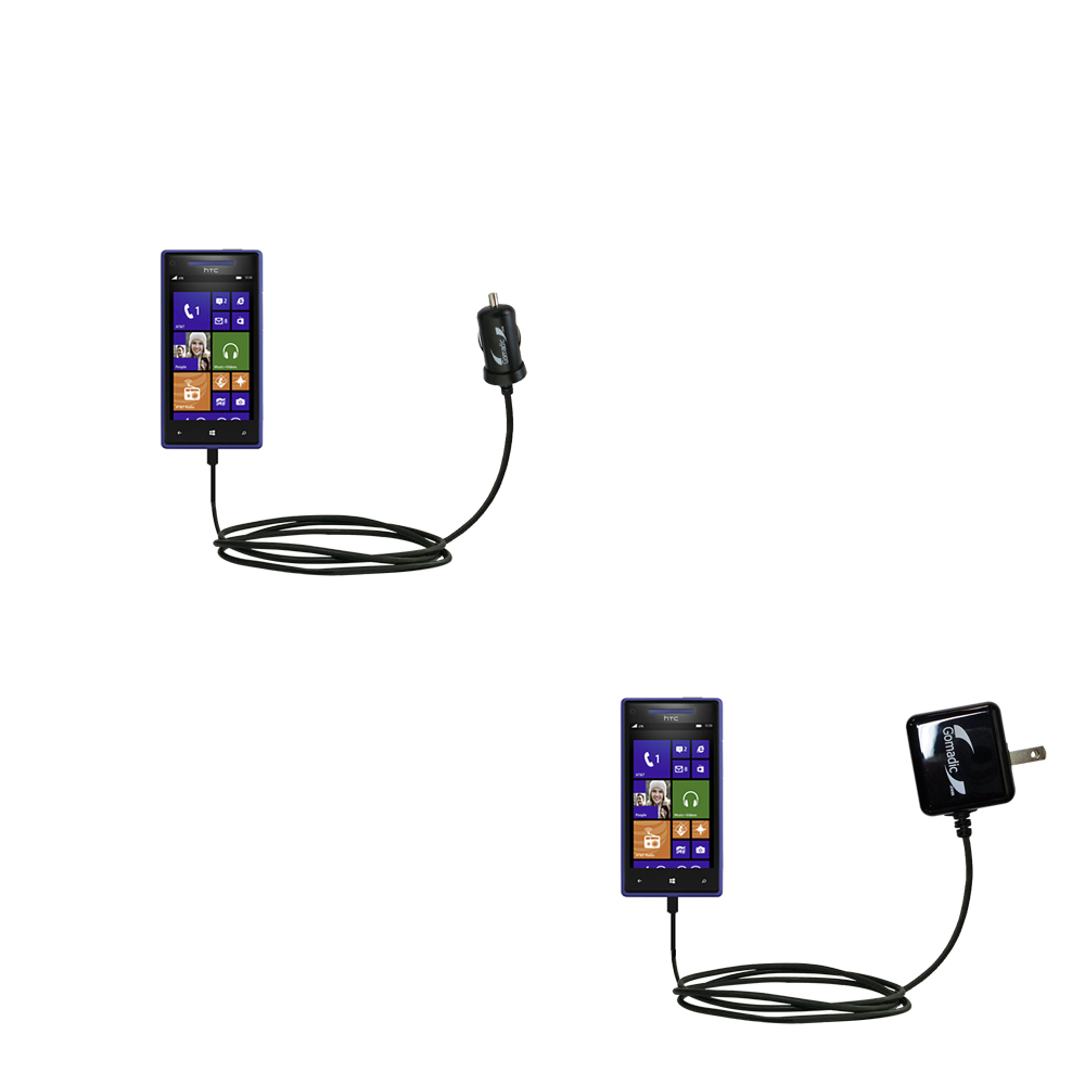 Car & Home Charger Kit compatible with the HTC Windows Phone 8x