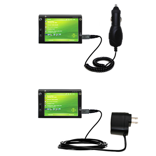 Car & Home Charger Kit compatible with the HTC X7500