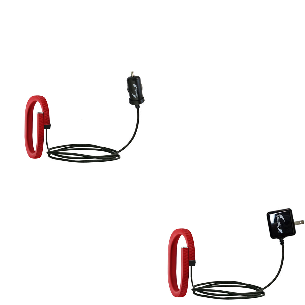 Car & Home Charger Kit compatible with the Jawbone UP