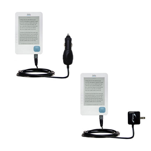 Car & Home Charger Kit compatible with the Kobo eReader