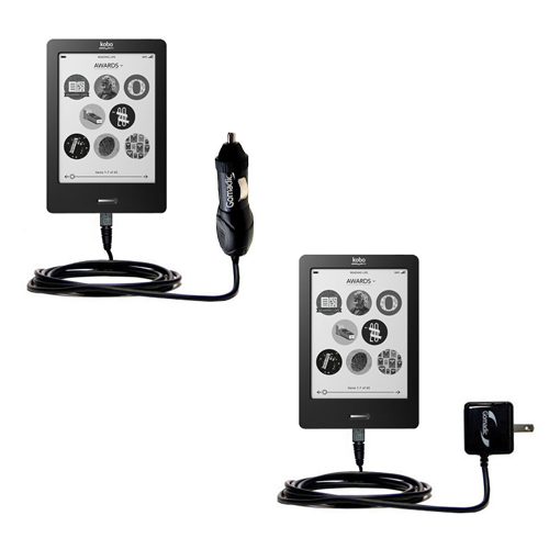 Car & Home Charger Kit compatible with the Kobo eReader Touch