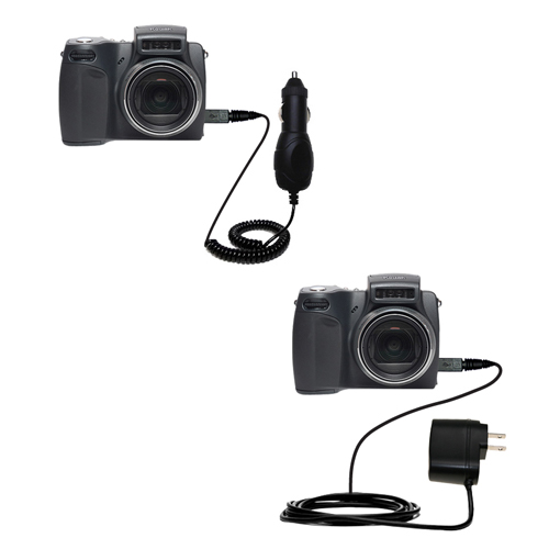 Car & Home Charger Kit compatible with the Kodak DX6490