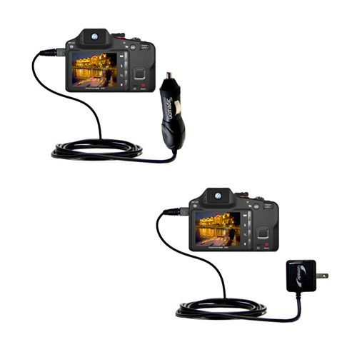 Car & Home Charger Kit compatible with the Kodak EasyShare Max
