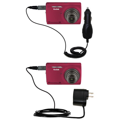 Car & Home Charger Kit compatible with the Kodak M1093 IS