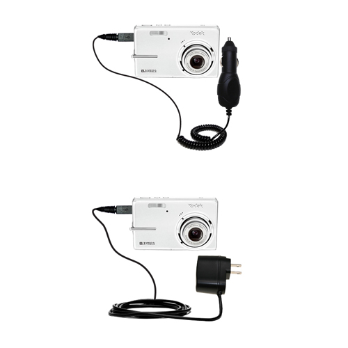 Car & Home Charger Kit compatible with the Kodak M893 IS