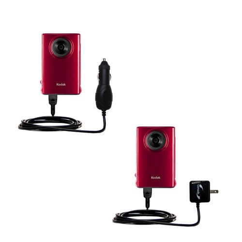 Car & Home Charger Kit compatible with the Kodak Mini Video Camera