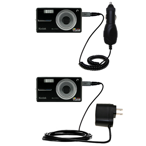 Car & Home Charger Kit compatible with the Kodak V603 V610