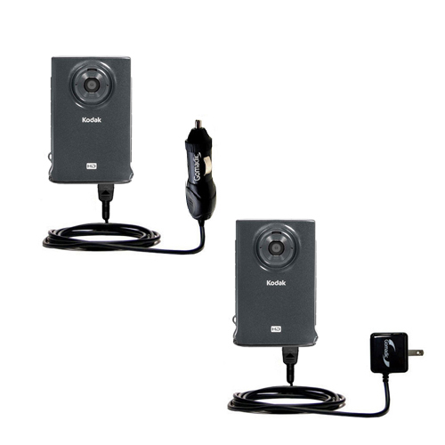 Car & Home Charger Kit compatible with the Kodak Zm2 Mini Video Camera