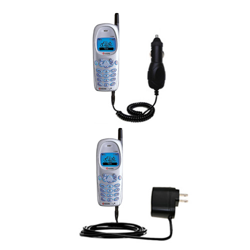 Car & Home Charger Kit compatible with the Kyocera 1135 1155