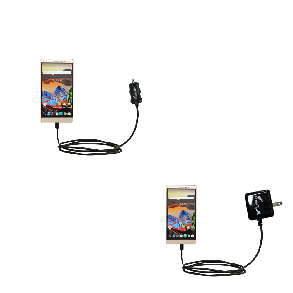 Car & Home Charger Kit compatible with the Lenovo PHAB 2 Pro