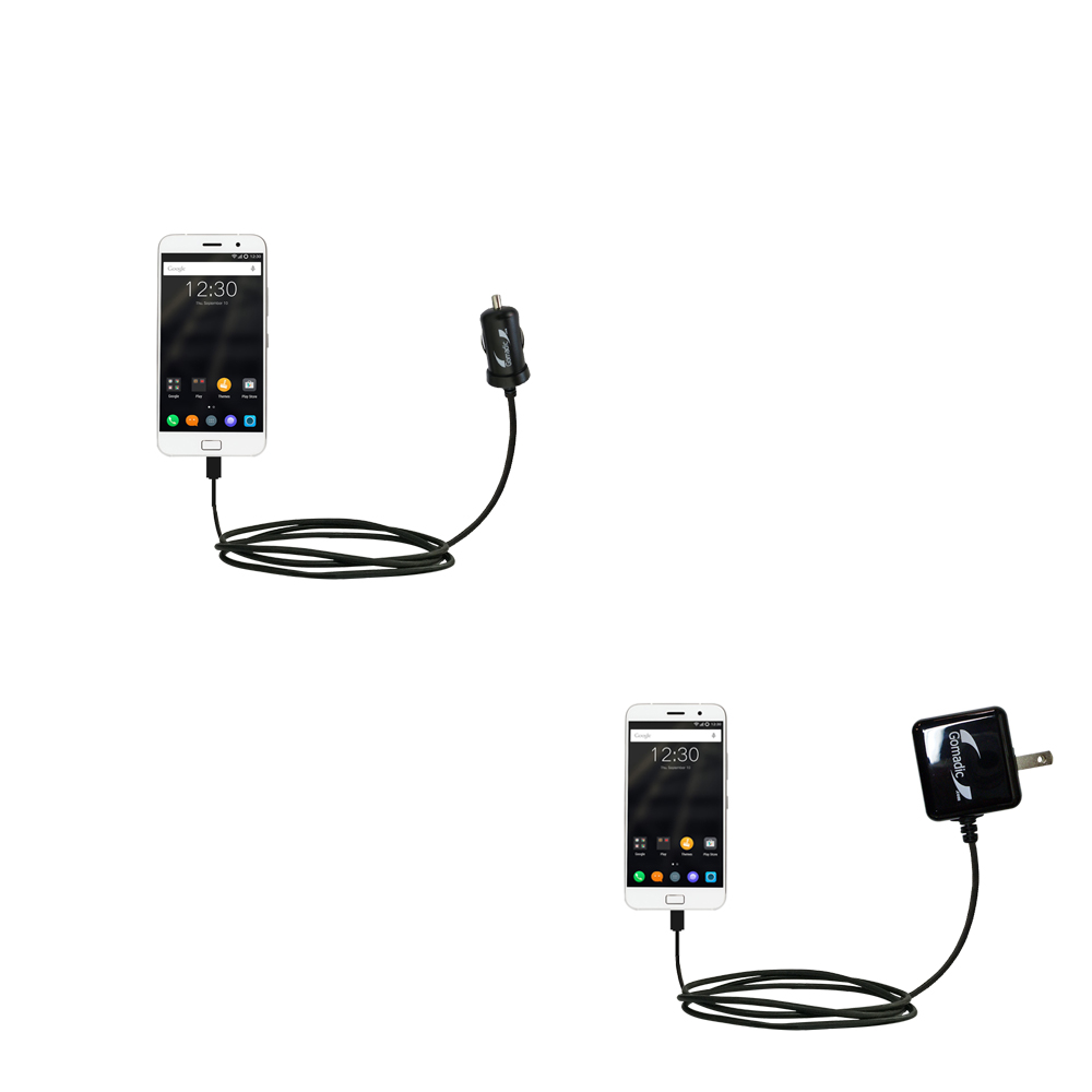 Car & Home Charger Kit compatible with the Lenovo ZUK Z1