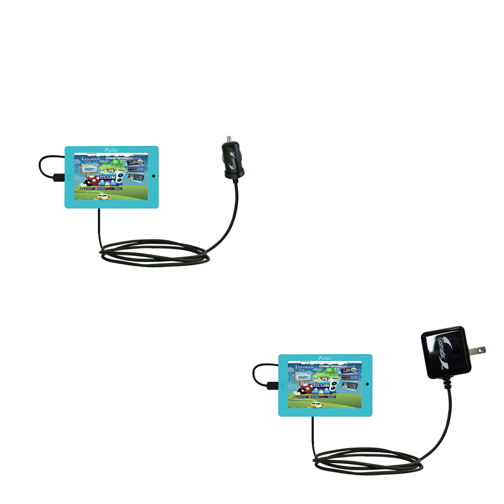 Car & Home Charger Kit compatible with the Lexibook Tablet Master MFC155EN