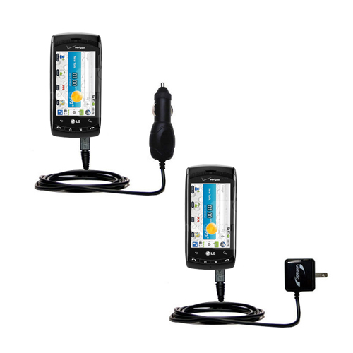 Car & Home Charger Kit compatible with the LG Ally