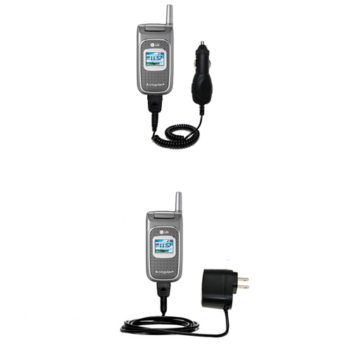 Car & Home Charger Kit compatible with the LG C1500