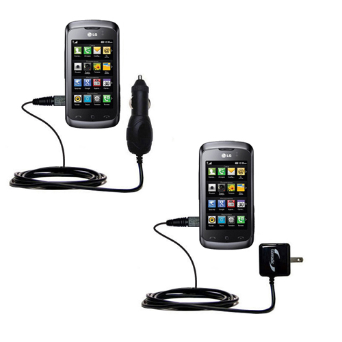 Car & Home Charger Kit compatible with the LG Clubby