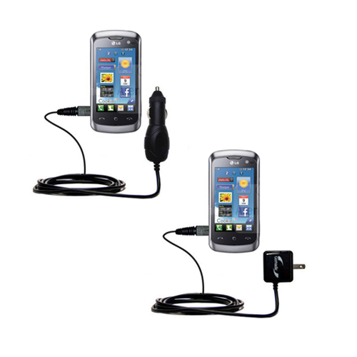 Car & Home Charger Kit compatible with the LG Cookie Live