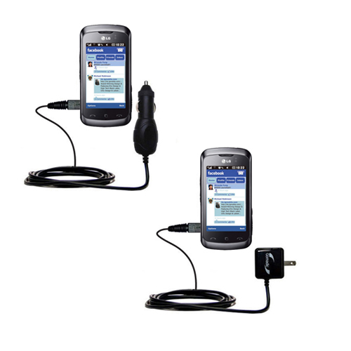 Car & Home Charger Kit compatible with the LG Cookie Music