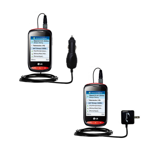 Car & Home Charger Kit compatible with the LG Cookie Style