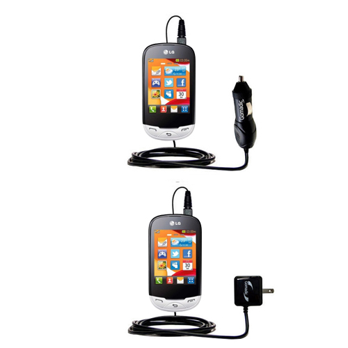 Car & Home Charger Kit compatible with the LG EGO Wi-Fi