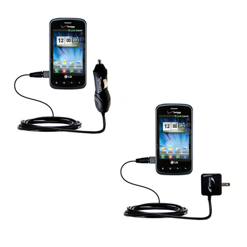 Car & Home Charger Kit compatible with the LG Enlighten