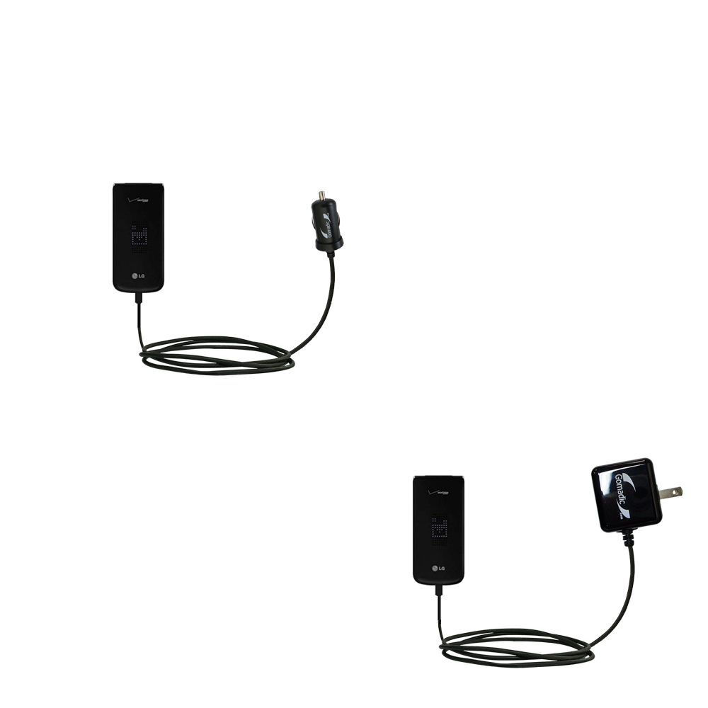 Car & Home Charger Kit compatible with the LG Exalt VN360