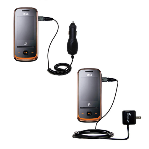 Car & Home Charger Kit compatible with the LG GM310