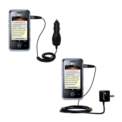 Car & Home Charger Kit compatible with the LG GM730